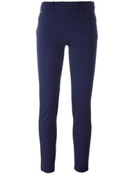 Blumarine Belt Loop Leggings Blue