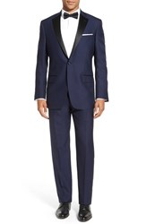 Hart Schaffner Marx Men's Big And Tall Classic Fit Wool Tuxedo Navy