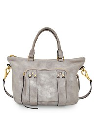 She Lo Next Chapter Perforated Leather Mini Satchel Grey