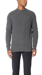 Ben Sherman Cable Knit Sweater Concrete Marl