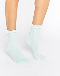 Gipsy Ruffle Top Socks Mint Green
