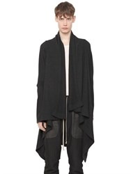 Rick Owens Boiled Cashmere Wrap Cardigan