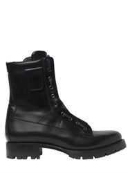 Dsquared Zip Up Leather Combat Boots