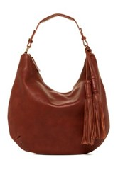 Lucky Brand Jordan Leather Hobo Brown