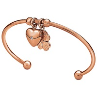 Folli Follie Heart4heart Dome Sweetheart Bangle Rose Gold