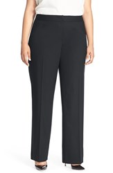 Plus Size Women's Lafayette 148 New York 'Menswear' Trousers Navy