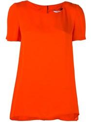 Diane Von Furstenberg Plain T Shirt Yellow And Orange