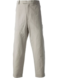 Kris Van Assche Cropped Trousers Nude And Neutrals