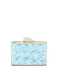 Franchi Odette Sequined Evening Clutch Bag Light Blue