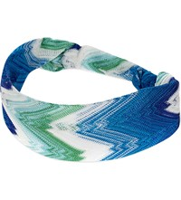 Missoni Zig Zag Knitted Headband Blue 6031