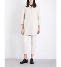 Max Mara S Anversa Brushed Wool Coat Ivory