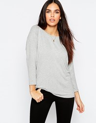 Warehouse Keyhole Detail Top Grey