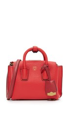 Mcm Micro Milla Tote Ruby Red