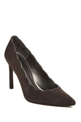 Stuart Weitzman Scallop Pointed Toe Pump Narrow Width Available Gray