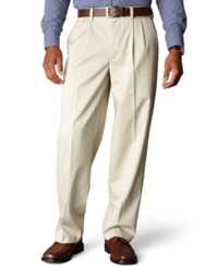 Dockers D4 Relaxed Fit Signature Khaki Pleated Pants Cloud