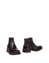 Green Step Ankle Boots Dark Brown