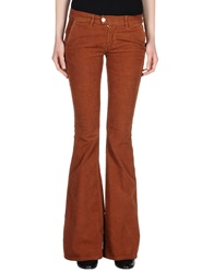 Paolo Pecora Donna Casual Pants Brown