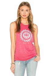 Spiritual Gangster Golden Eye Sun Burnout Coachella Tank Red