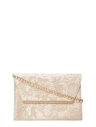 Dorothy Perkins Lace Chain Clutch Bag Metallic
