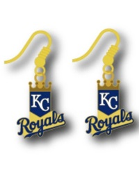 Aminco Kansas City Royals Logo Drop Earrings