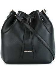 Emporio Armani Drawstring Shoulder Bag Black
