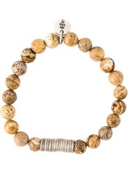 Eleventy Beaded Bracelet Nude And Neutrals