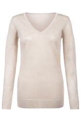 Damsel In A Dress Vita Jumper Gold And Clear Gold And Clear