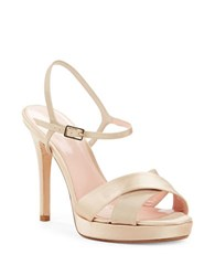 Kate Spade Rosemarie Satin Sandals Champagne