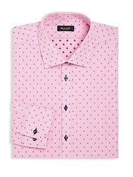 Sand Checked Woven Cotton Shirt Pink