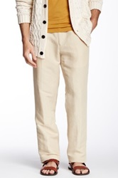 Louis Raphael Straight Fit Solid Pant Beige