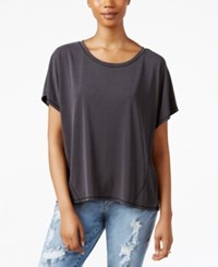Rachel Rachel Roy Split Back T Shirt Black