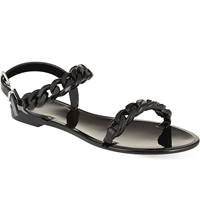 Givenchy Chain Jelly Sandals Black