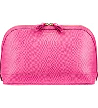 Aspinal Of London Hepburn Large Leather Cosmetics Case Pink