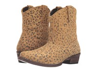 Roper Cheetah Tan Cheetah Print Leather Cowboy Boots