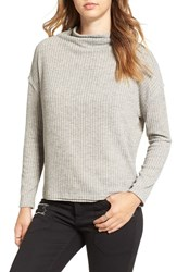 Astr Women's Open Back Rib Cowl Neck Sweater