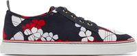 Thom Browne Navy Canvas Butterfly Sneakers