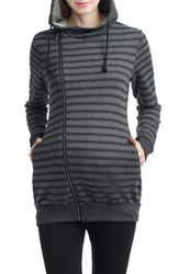 Kimi And Kai Women's Salena Stripe Maternity Hoodie