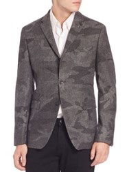 Michael Kors Camo Wool Blend Sportcoat Grey Multi