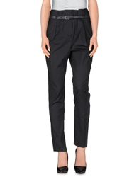 Pinko Grey Casual Pants Black