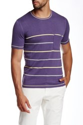 Parke And Ronen Lilac Sky Port Knit Crew Neck Tee Purple