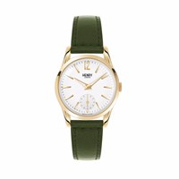 Henry London Ladies' Chiswick Watch With Sub Second Hand Dial White Gold Green