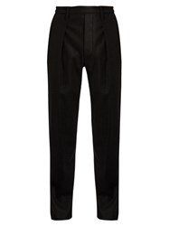 Christophe Lemaire Elasticated Waist Slim Leg Wool Trousers Black