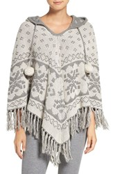 Pj Salvage Women's Reversible Hooded Poncho