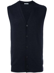 Paolo Pecora Buttoned Knit Gilet Grey