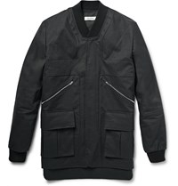 Tim Coppens Panelled Coated Cotton Jacket Black