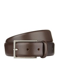 Boss Smooth Nubuck Belt Unisex Brown