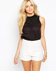 Oasis Victorianna Shell Top Black