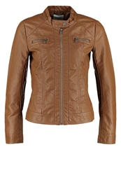 Only Bandit Faux Leather Jacket Cognac Beige