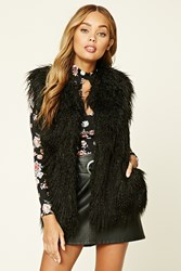Forever 21 Faux Fur Vest Black