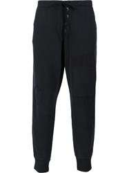 Greg Lauren Loose Fit Track Pants Black